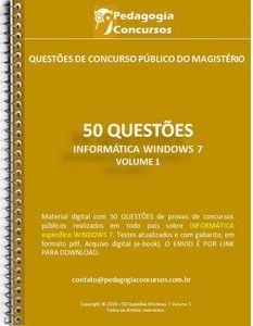 50 Questões de Informática - WINDOWS