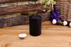Κεριά Κυλινδρικά Μαύρα Φ6x10εκ