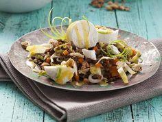 Low Carb-Rezepttipp: Linsen-Chicorée-Salat mit Ziegenkäse - Schnell satt, glücklich und schlank der Bikinifigur ein Stückchen näher