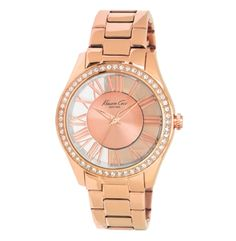 Transparent Watch With Rose Gold Link Strap Kenneth Cole New York Style #:KC4852
