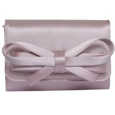 VALENTINO Satin Clutch With Bow ❤ liked on Polyvore