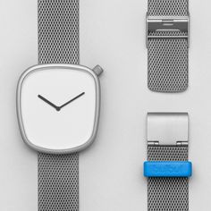 The first watch by Danish group #KiBiSi, is a collaboration with fellow Danish company Bulbul, featuring a rounded irregular face based on the pebbles found on Scandinavian beaches. #watches #design