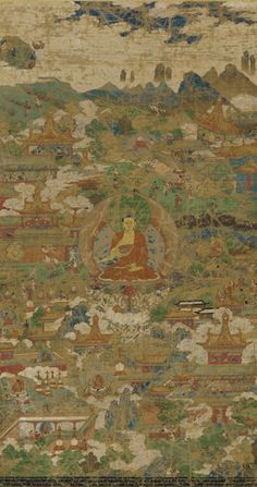 Chinese Art | The Buddha, Sakyamuni, surrounded by biographical scenes | F1905.69   This image can be enlarged.