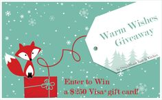 """Enter to WIN a 250 dollar Visa® gift card (or 1 of 5 Starbucks® gift cards)     The DreamMaker® """"Warm Wishes Giveaway"""" ends December 16, 2012. Enter today!"""