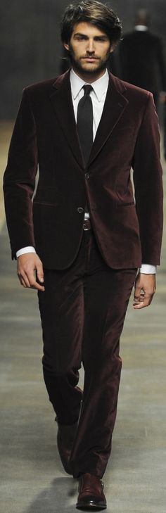 Hermès   Men's Fashion   Menswear   Men's Outfit for Fall/Winter   Burgundy Suit   Stylish and Sharp   Moda Masculina   Shop at designerclothingfans.com