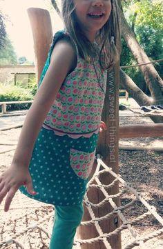 Wendekleid Paulinchen /dress for girls  pdf pattern by worawo