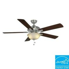 Hampton Bay Larson 52 in. Brushed Nickel Ceiling Fan. May buy a few of these to replace the icky ceiling fans they have now. :)