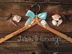 Beach Bridal Hanger / Wedding Hanger / Bride Hanger / by GetHungUp, $40.00