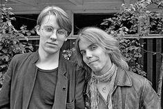 Yari ja Woude, kaksi uuden aallon romantikkoa Jyväskylän tuomiorockissa elokuussa 1981. Kuva: Pekka Helin