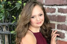 Girl with Down's syndrome becomes model after doctors told mum to give her away - Mirror Online Rare Genetic Disorders, Smooth Talker, Actors Images, Prom Dress Shopping, Down Syndrome, S Pic, Genetics, Her Hair, American Girl