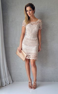 crochet dress with chart