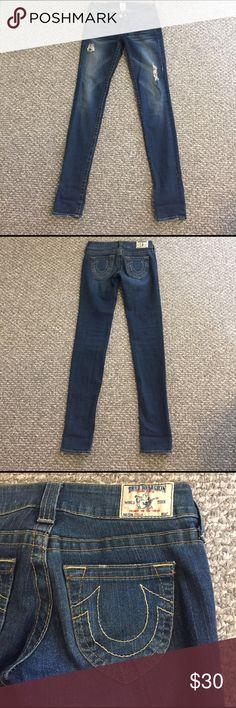 True religion destroyed jeans Stella size 26 Barely worn! True Religion Jeans Straight Leg