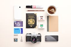 30 Inspiring Examples of Knolling Photography Photography Courses, Photography Projects, Product Photography, Story Inspiration, Design Inspiration, Creative Inspiration, Things Organized Neatly, Travel Store, Collections Of Objects