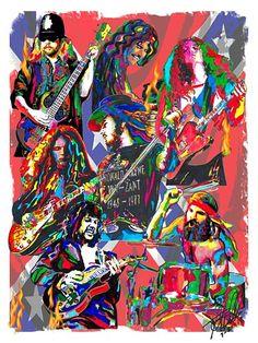 Lynyrd Skynyrd, Ronnie Van Zant, Gary Rossington, Rock, POSTER w/COA