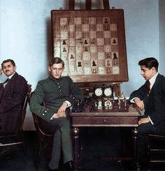 Alekhine and Capablanca 1913