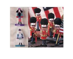 Nutcracker and Toy Soldier Clothespin Dolls Sewing Craft Pattern DIY Miniature Dolls Christmas Ornaments Decorations