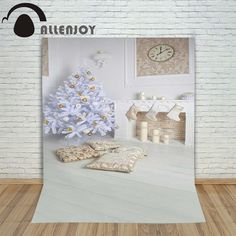 christmas tree fireplace photography background xmas backdrops indoor