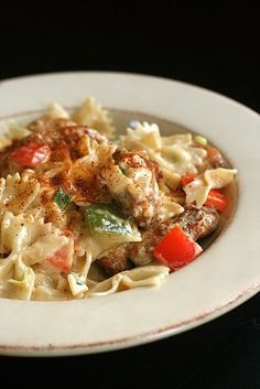 I hope this is close to the Louisiana Chicken Pasta that the Cheesecake Factory serves. If it is, I'll be in heaven...