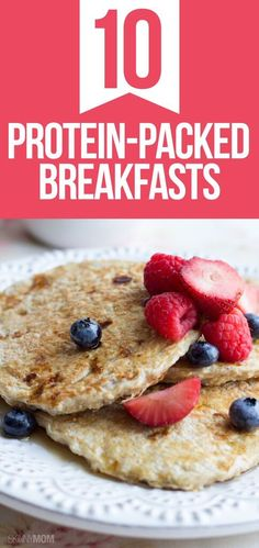 10 breakfast recipes high in protein!