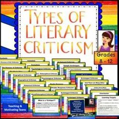 This product contains: (1) an introduction explaining the purpose and process of literary criticism or critiques (written broadly enough to relate to criticism of any art form), (2) an editable version (you can add, just not take anything away) of this saved as a PowerPoint presentation ,  (3) a student worksheet guiding them through a critical review of ANY work of fiction, (4) an editable version of the worksheet saved as a Microsoft Word document.