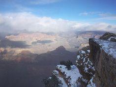 #grandcanyon #grandcanyonnationalpark #grandcanyonsouth #south #Arizona #snow #cold #winter #cloudy #usa #usatrip #america #roadtrip #usaroadtrip #jucy #jucycamper #west #yavapai #lookout