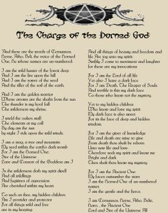 Charge of the Horned God  Wicca Book of Shadows Parchment page & color pics picclick.com
