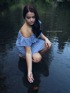 River photography session done by California Goddess Artwork Photo Galleries, Shoulder Dress, California, Artwork, Photography, Portraits, River, Dresses, Fashion