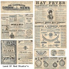 vintage ads 1892 collage sheet ~free to use