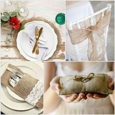 wedding ideas from the knot   burlap ideas for wedding