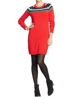 Women's Fair Isle Sweater Dresses | Old Navy $35
