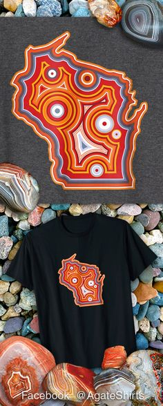 Wisconsin agate lover T-shirt! Lake superior agate collector rock hound T-shirt.