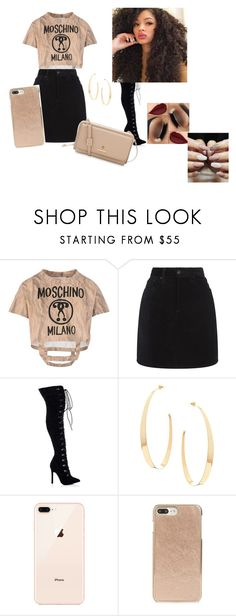 """10:38 pm"" by ziyah-mesy on Polyvore featuring Moschino, rag & bone, Lana, Kate Spade and Spartina 449"
