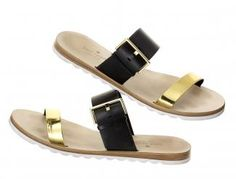 black and gold sandals image
