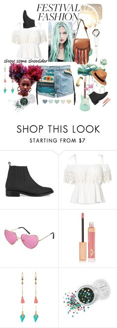"""""""#music #festivals #fun #love"""" by obsessedaboutstyle ❤ liked on Polyvore featuring Opening Ceremony, Ralph Lauren, Jennifer Fisher, Charlotte Tilbury and Accessorize"""