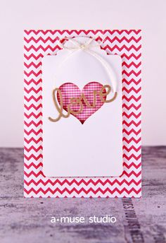 A Muse Studio Love heart tag on chevron