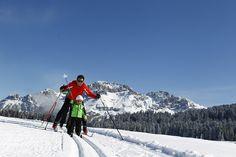 Passo Lavazè, che bello sciare con la mamma!  www.visitfiemme.it