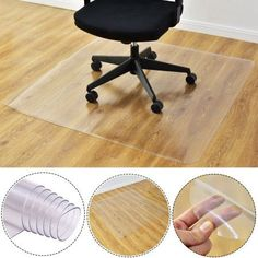 Goplus 47'' x 47'' PVC Chair Floor Mat Home Office Protector For Hard Wood Floors