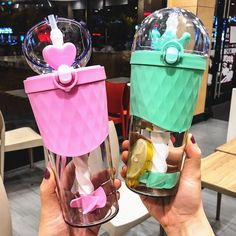 Kawaii Fruits Drinking Bottle ml.(Shipping times can be affected by variable customs clearance times or public holiday Cute Water Bottles, Glass Water Bottle, Drink Bottles, All Things Cute, Girly Things, Unicorn Cafe, Kawaii Fruit, Coca Cola Bottles, Aesthetic Coffee