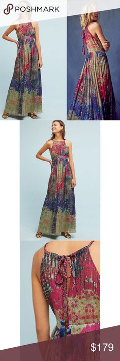 7e37a8b59a4b NWT ANTHROPOLOGIE Bhanuni Abstracted Tassel Dress Brand new with tags NWT  ANTHROPOLOGIE Bhanuni by Jyoti Abstracted