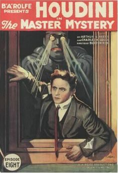 Nearly a century ago, in January of 1919, Houdini made his motion picture debut as Justice Department agent Quentin Locke in a 15-part serial called The Master Mystery.