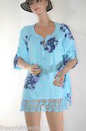 tunique chemise bleu grande taille 46  ref 061682