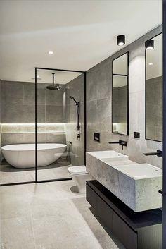 Surpirising Apartment Bathroom Renovation Design Ideas To Try Asap 16 Bathroom Layout, Modern Bathroom Design, Bathroom Interior Design, Bathroom Ideas, Bathroom Organization, Bathroom Storage, Minimal Bathroom, Tile Layout, Bath Design