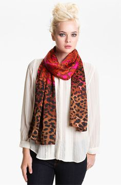 Echo 'Floral Cheetah Spot' Scarf available at #Nordstrom.