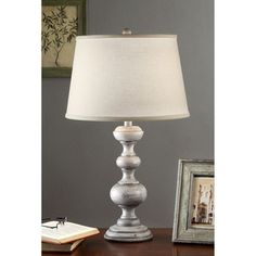 Charcoal Finish 26-inch Table Lamp $58 Overstock