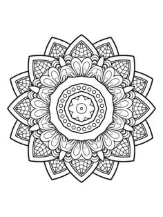 Mindfulness Mandalas by MTC Edições - issuu Pattern Coloring Pages, Mandala Coloring Pages, Coloring Book Pages, Coloring Sheets, Mandala Pattern, Mandala Art, Classe D'art, Free Coloring, Colorful Pictures