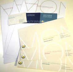 Papeterie - cartes de visite - têtes de lettres - Mairie de Montfrin pat l'Atelier Vauban - Graphiste à Nimes