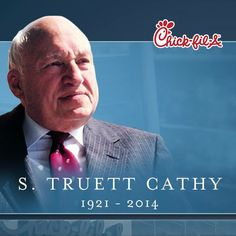 Truett Cathy dies at 93,  Sep 8,2014