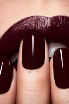 Gorgeous Burgundy Manicure Dior and lipstick combination (FALL) - Dior Lipstick - Ideas of Dior Lipstick. Trending Dior Lipstick - Gorgeous Burgundy Manicure Dior and lipstick combination (FALL) Fall Nail Colors, Nail Polish Colors, Lip Colors, Winter Colors, Winter Nails Colors 2019, Paint Colors, Matte Nail Polish, Gel Polish, Cute Nails