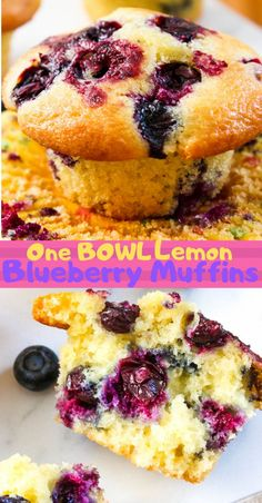 Squeeze the best out of your day with my lemon blueberry muffins. So soft. Bright and cheerful! One bowl lemon muffins recipe and oh so easy! Lemon Desserts, Lemon Recipes, Easy Desserts, Delicious Desserts, Dessert Recipes, Brunch Recipes, Breakfast Recipes, Lemon Blueberry Muffins, Blueberry Recipes