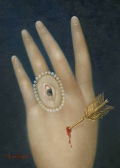 Fatima Ronquillo: Wounded Hand with Lover's Eye, 2015 Photo Illusion, La Danse Macabre, Illustration Photo, Art Français, Lovers Eyes, Eye Jewelry, Jewellery, Art Moderne, Detail Art